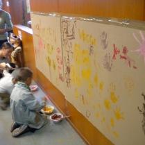 "Mural del Taller ""Cóm pintaven a la prehistòria?"""